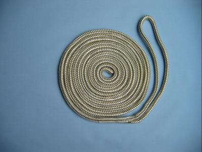 "1/2"" X 25' NYLON DOUBLE BRAID DOCK LINE - GOLD & WHITE"
